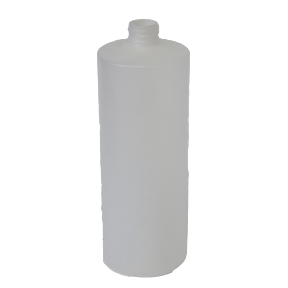Bottle 32 oz cylinder round HDPE 28/400 Natural