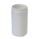 Jar 32 oz wide mouth HDPE 89mm white (anti static)