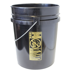 Five gallon HDPE plastic pail black