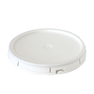 1 gallon HDPE plastic pail cover tear tab white