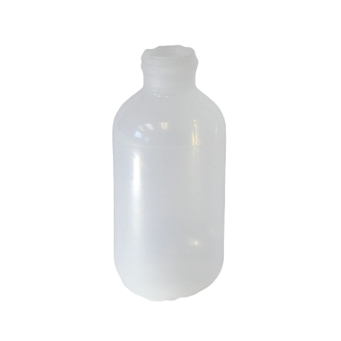 2 oz Boston Round bottle LDPE with a 20/410 neck in natural