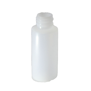 1 oz tall cylinder round HDPE with a 20/410 neck in natural