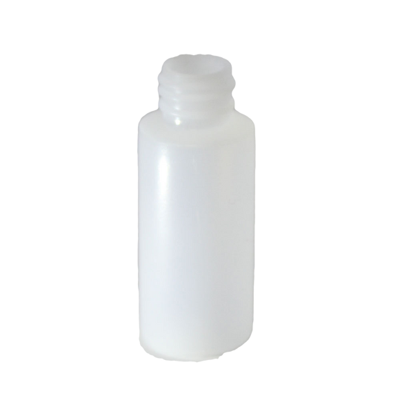 2 oz cylinder round bottle with a 24/410 neck HDPE in Natural