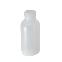 1 oz Boston Round bottle LDPE with a 20/410 neck in natural