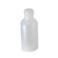1/2 oz Boston Round bottle LDPE with a 15-415 neck in natural