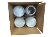 Jar gallon round HDPE 110M 4/1 reshipper Natural
