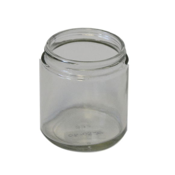 4 oz straight sided jar flint glass 58-400 CT