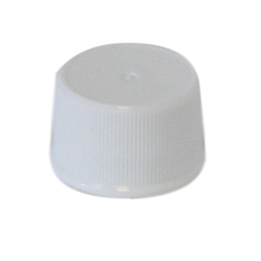 Cap 20-410 white with foam liner ribbed sides