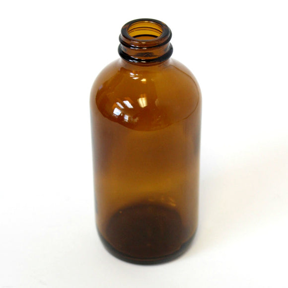 4 oz Boston Round bottle Amber glass with a 22/400 neck in amber