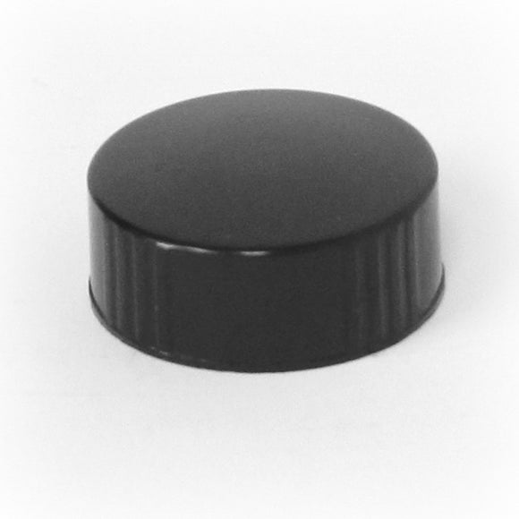 Cap 33-400 phenolic poly seal cap with cone insert in black