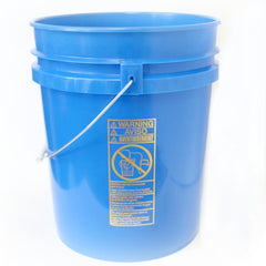 Five gallon HDPE plastic pail blue