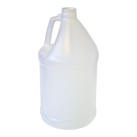 Bottle gallon round HDPE 38mm 4/1 reshipper natural