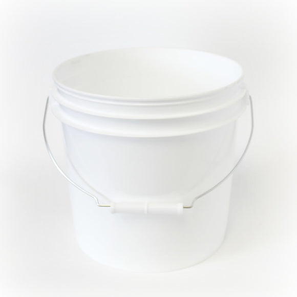 One gallon HDPE plastic pail white