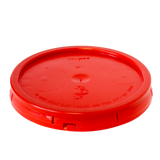 5 gallon HDPE plastic pail cover tear tab red