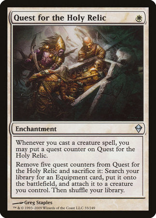 Quest for the Holy Relic [Zendikar] | Jack's on Queen
