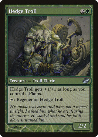 Hedge Troll [Planar Chaos] | Jack's on Queen