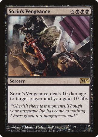 Sorin's Vengeance [Magic 2012] | Jack's on Queen