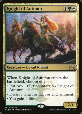 Knight of Autumn [Guilds of Ravnica] | Jack's on Queen