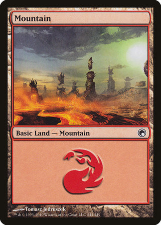 Mountain (244) [Scars of Mirrodin] | Jack's on Queen