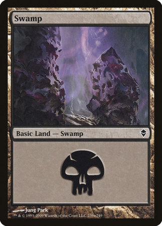 Swamp (239a) [Zendikar] | Jack's on Queen