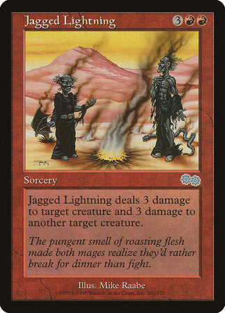 Jagged Lightning [Urza's Saga] | Jack's on Queen