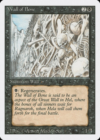 Wall of Bone [Revised Edition] | Jack's on Queen