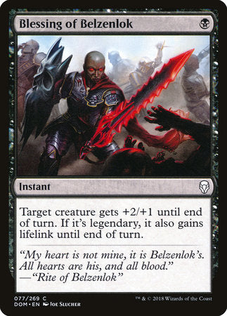 Blessing of Belzenlok [Dominaria] | Jack's on Queen
