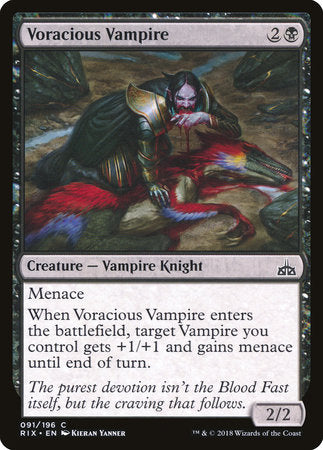 Voracious Vampire [Rivals of Ixalan] | Jack's on Queen