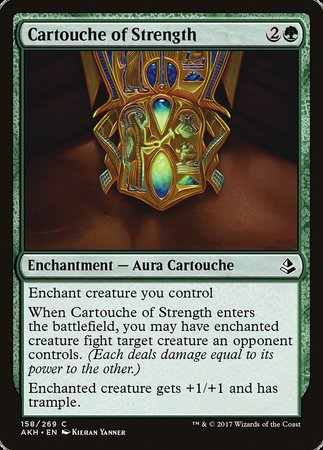 Cartouche of Strength [Amonkhet] | Jack's on Queen