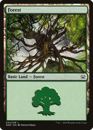 Forest (34) [Duel Decks: Nissa vs. Ob Nixilis] | Jack's on Queen