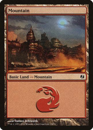 Mountain (74) [Duel Decks: Venser vs. Koth] | Jack's on Queen