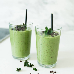 Mint Chocolate Chip Smoothie with CBD Oil