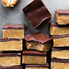 CBD infused Peanut Butter Chocolate bars