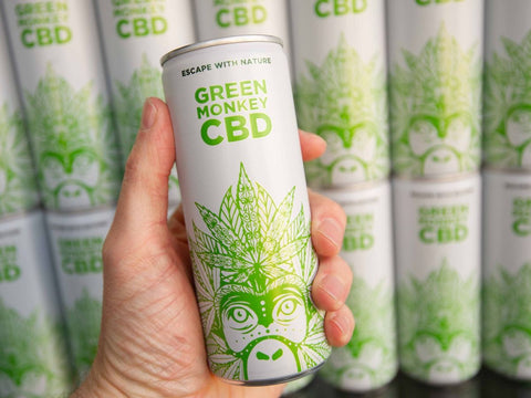 Green Monkey CBD infused soft drink