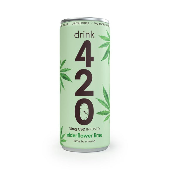 Drink420 Elderflower Lime CBD Drink