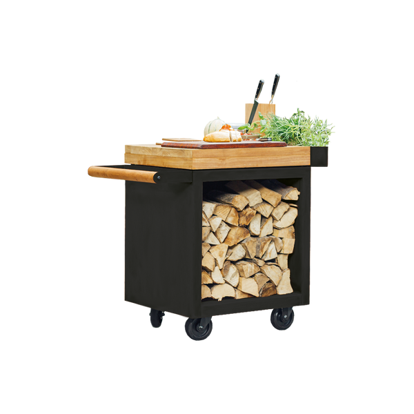 OFYR Mise en Place Table Black PRO 65 Teak Wood