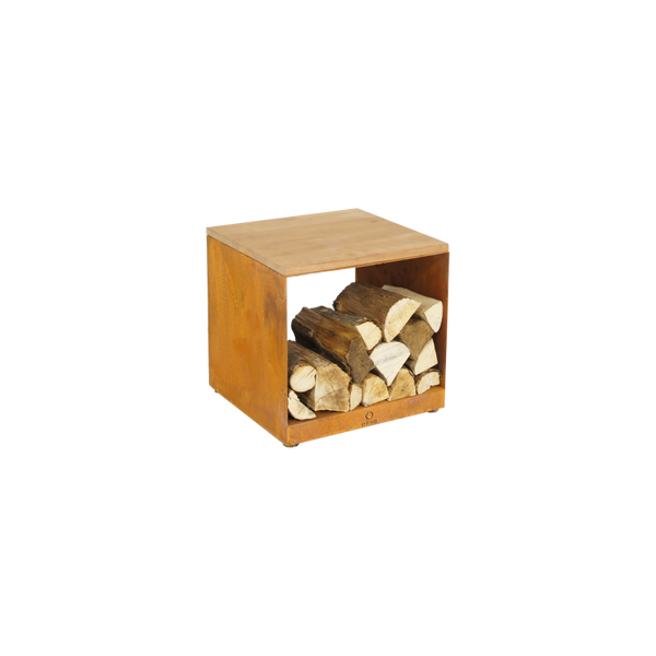 Wood Storage Hocker