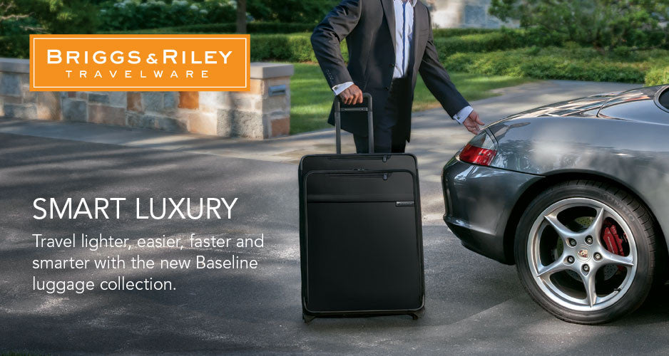 Briggs & Riley Travelware, smart luxury, travel lighter, easier, faster and smarter