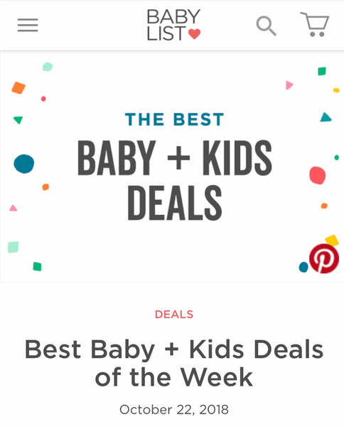 Babylist maternity discounts