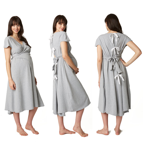 patient gown style for labor and delivery released by Pretty Pushers in 2015
