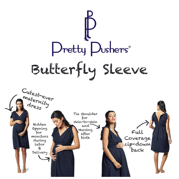 Maternity, birth, and nursing dress by Pretty Pushers