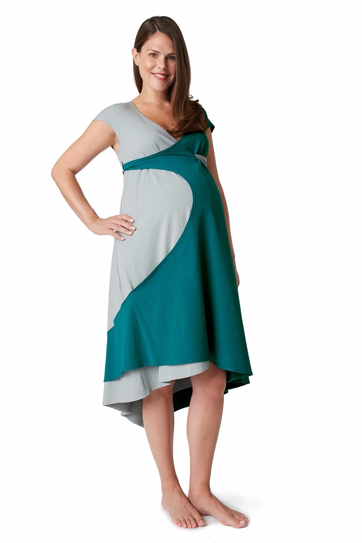 Maternity Dress, Birthing Gown, and Nursing dress all in one
