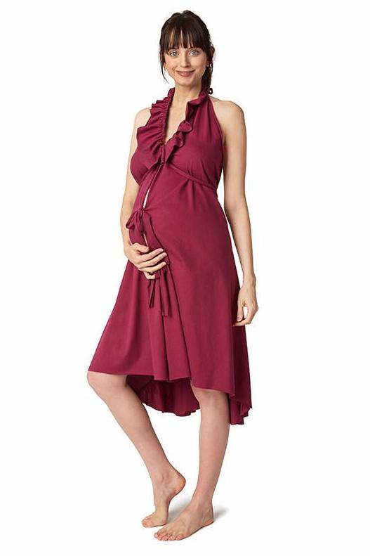 The Ruffle Labor Gown by Pretty Pushers is Made in the USA