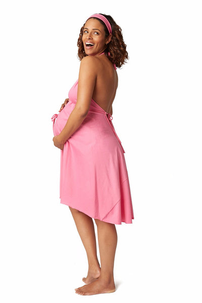 A pink gown for Labor and Delivery - the best baby shower gift!