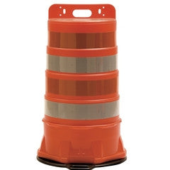 Standard Traffic Barrel 6-Inch Reflective Stripes-Traffic Control-Work Area Protection-Engineer Grade-No Base (Default)-Sealcoating.com