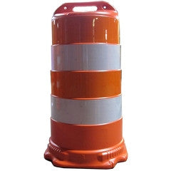 Lane Changer Traffic Barrel 6-Inch Reflective Stripes-Traffic Control-Work Area Protection-Engineer Grade-No Base (Default)-Sealcoating.com
