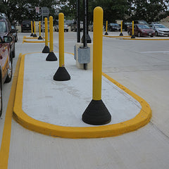 4 inch bollard base and combo for parking lot