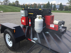 55 Gallon Hot Rubber Mastic Melter Kettle on Trailer