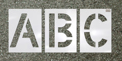 "38 Piece Alphabet Stencil Kit 6"" Letters-Stencils-CH Hanson-6"" x 4"" HWY Font Character Size; thickness 1/16""; 10"" x 6"" Stencil Size-Sealcoating.com"