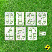 "Football Field Number Paint Stencil Kit (NCAA specs)-Stencils-CH Hanson-24"" Character Height (24"" x 12"") with 30"" x 18"" Stencil Size-Sealcoating.com"